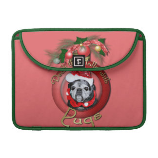 Christmas - Deck the Halls - Pugs - Angel Sleeves For MacBook Pro