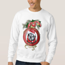 Christmas - Deck the Halls - Pugs - Angel Sweatshirt