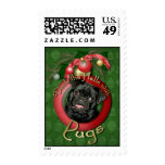 Christmas - Deck the Halls - Pugs - Ruffy Postage