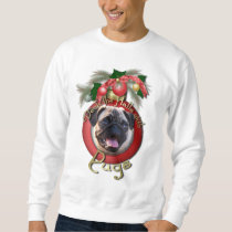 Christmas - Deck the Halls - Pugs Sweatshirt