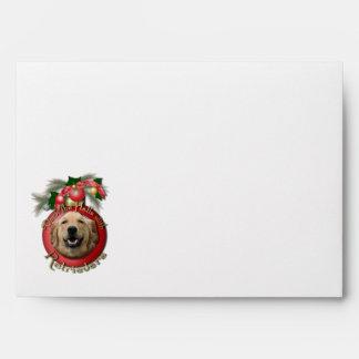 Christmas - Deck the Halls - Retrievers - Mickey Envelopes