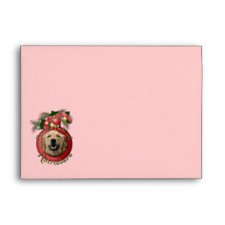 Christmas - Deck the Halls - Retrievers - Mickey Envelope