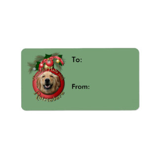 Christmas - Deck the Halls - Retrievers - Mickey Personalized Address Labels