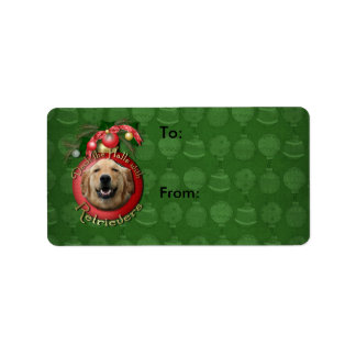 Christmas - Deck the Halls - Retrievers - Mickey Address Label