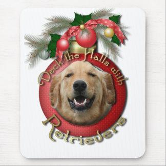 Christmas - Deck the Halls - Retrievers - Mickey Mousepads