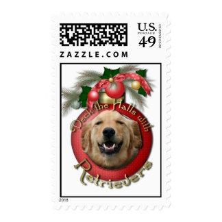 Christmas - Deck the Halls - Retrievers - Mickey Postage Stamp