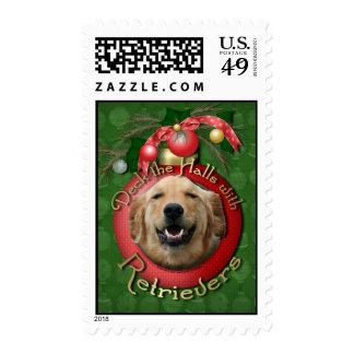 Christmas - Deck the Halls - Retrievers - Mickey Stamps