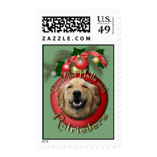 Christmas - Deck the Halls - Retrievers - Mickey Postage