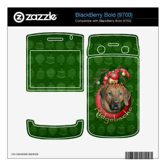 Christmas - Deck the Halls - Ridgebacks Decals For BlackBerry