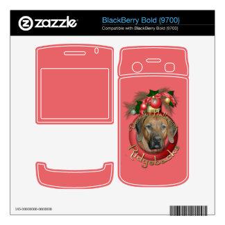 Christmas - Deck the Halls - Ridgebacks Decal For BlackBerry Bold