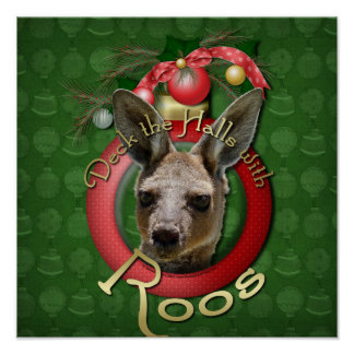 Christmas - Deck the Halls - Roos Poster