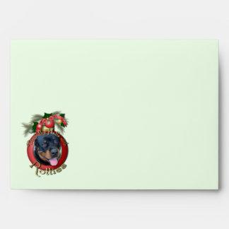 Christmas - Deck the Halls - Rotties - Harley Envelope