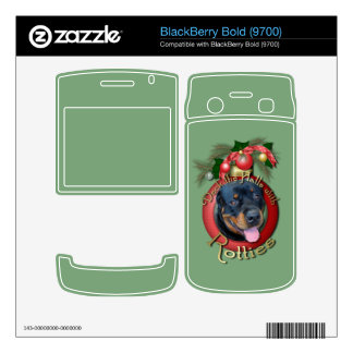 Christmas - Deck the Halls - Rotties - Harley Decals For BlackBerry