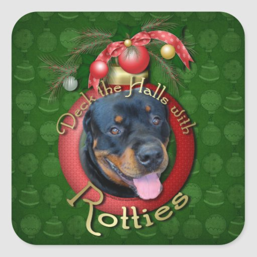 Christmas - Deck the Halls - Rotties - Harley Sticker