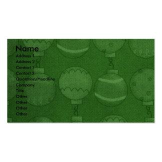 Christmas - Deck the Halls - Rotties - SambaParTi Business Card Template