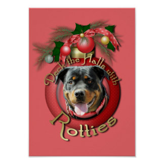 Christmas - Deck the Halls - Rotties - SambaParTi Poster