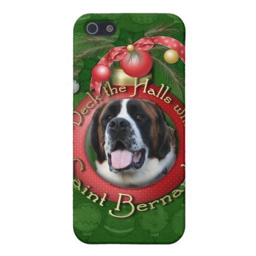 Christmas - Deck the Halls - Saint Bernards - Mae iPhone 5 Cover