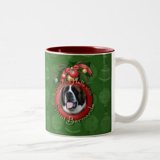 Christmas - Deck the Halls - Saint Bernards - Mae Coffee Mug