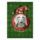 Christmas - Deck the Halls - Salukis Card