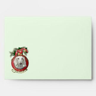 Christmas - Deck the Halls - Salukis Envelope