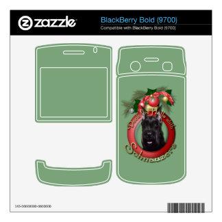 Christmas - Deck the Halls - Schnauzer Skins For BlackBerry Bold