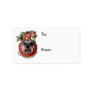 Christmas - Deck the Halls - Schnauzers Custom Address Labels