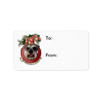 Christmas - Deck the Halls - Schnauzers Label