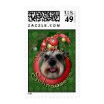 Christmas - Deck the Halls - Schnauzers Stamp