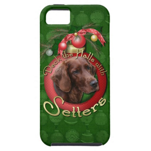 Christmas - Deck the Halls - Setters iPhone 5 Case