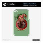 Christmas - Deck the Halls - Setters Decals For iPod Touch 4G