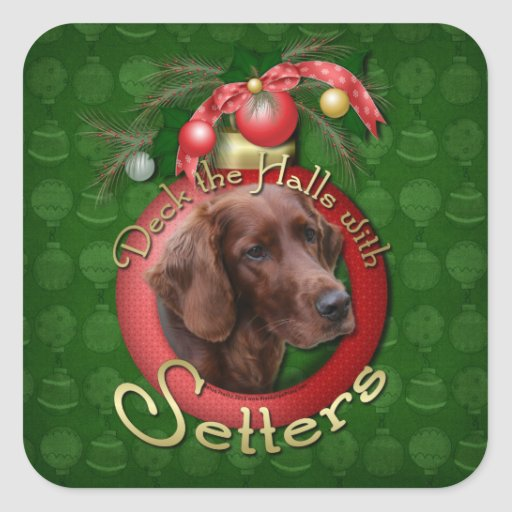 Christmas - Deck the Halls - Setters Stickers