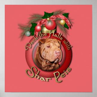 Christmas - Deck the Halls - Shar Peis - Lucky Print
