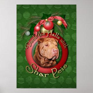 Christmas - Deck the Halls - Shar Peis - Lucky Posters