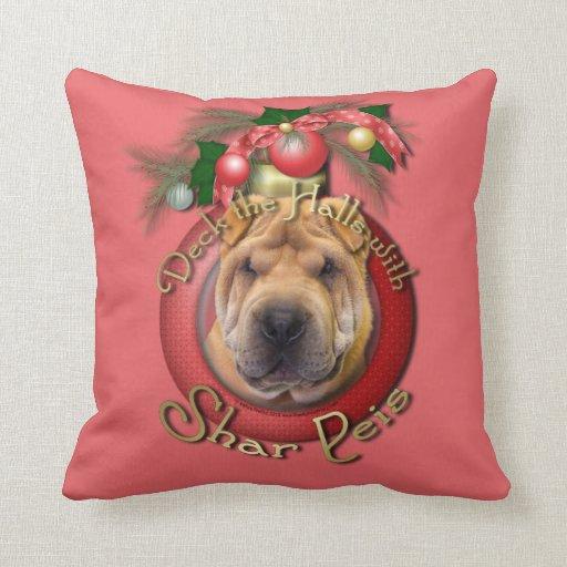 Christmas - Deck the Halls - Shar Peis Pillow