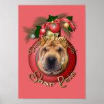 Christmas - Deck the Halls - Shar Peis Posters