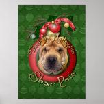 Christmas - Deck the Halls - Shar Peis Print
