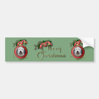 Christmas - Deck the Halls - Sheepdogs Bumper Stickers