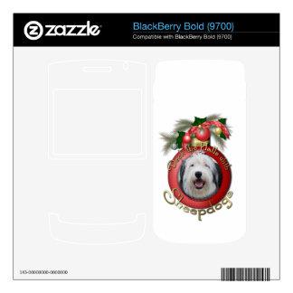 Christmas - Deck the Halls - Sheepdogs Skin For BlackBerry