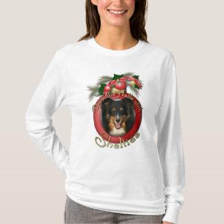Christmas - Deck the Halls - Sheltie - Chani T-Shirt