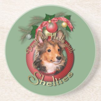 Christmas - Deck the Halls - Shelties - Cooper Coaster