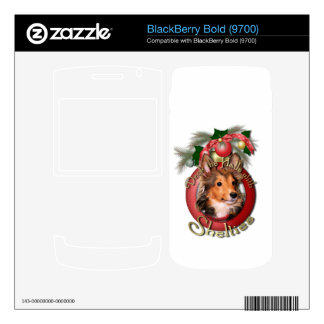 Christmas - Deck the Halls - Shelties - Cooper BlackBerry Bold Decal
