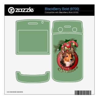 Christmas - Deck the Halls - Shelties - Cooper BlackBerry Skins
