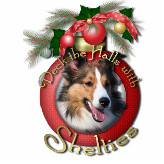 Christmas - Deck the Halls - Shelties Photo Cut Outs