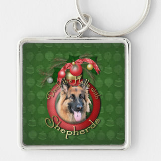 Christmas - Deck the Halls - Shepherds - Chance Silver-Colored Square Keychain