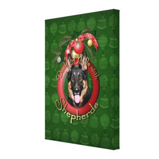Christmas - Deck the Halls - Shepherds - Kuno Stretched Canvas Prints