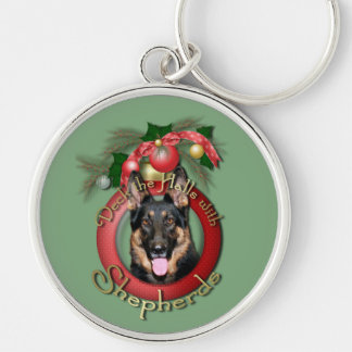 Christmas - Deck the Halls - Shepherds - Kuno Silver-Colored Round Keychain
