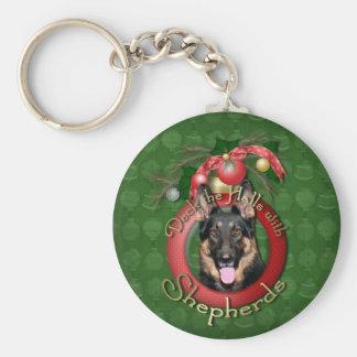 Christmas - Deck the Halls - Shepherds - Kuno Basic Round Button Keychain
