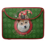 Christmas - Deck the Halls - Shiba Inu Sleeve For MacBook Pro