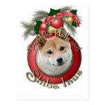 Christmas - Deck the Halls - Shiba Inu Post Cards