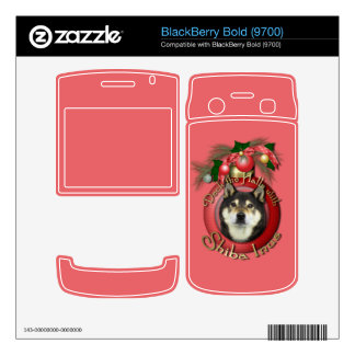 Christmas - Deck the Halls - Shiba Inu - Yasha Decals For BlackBerry